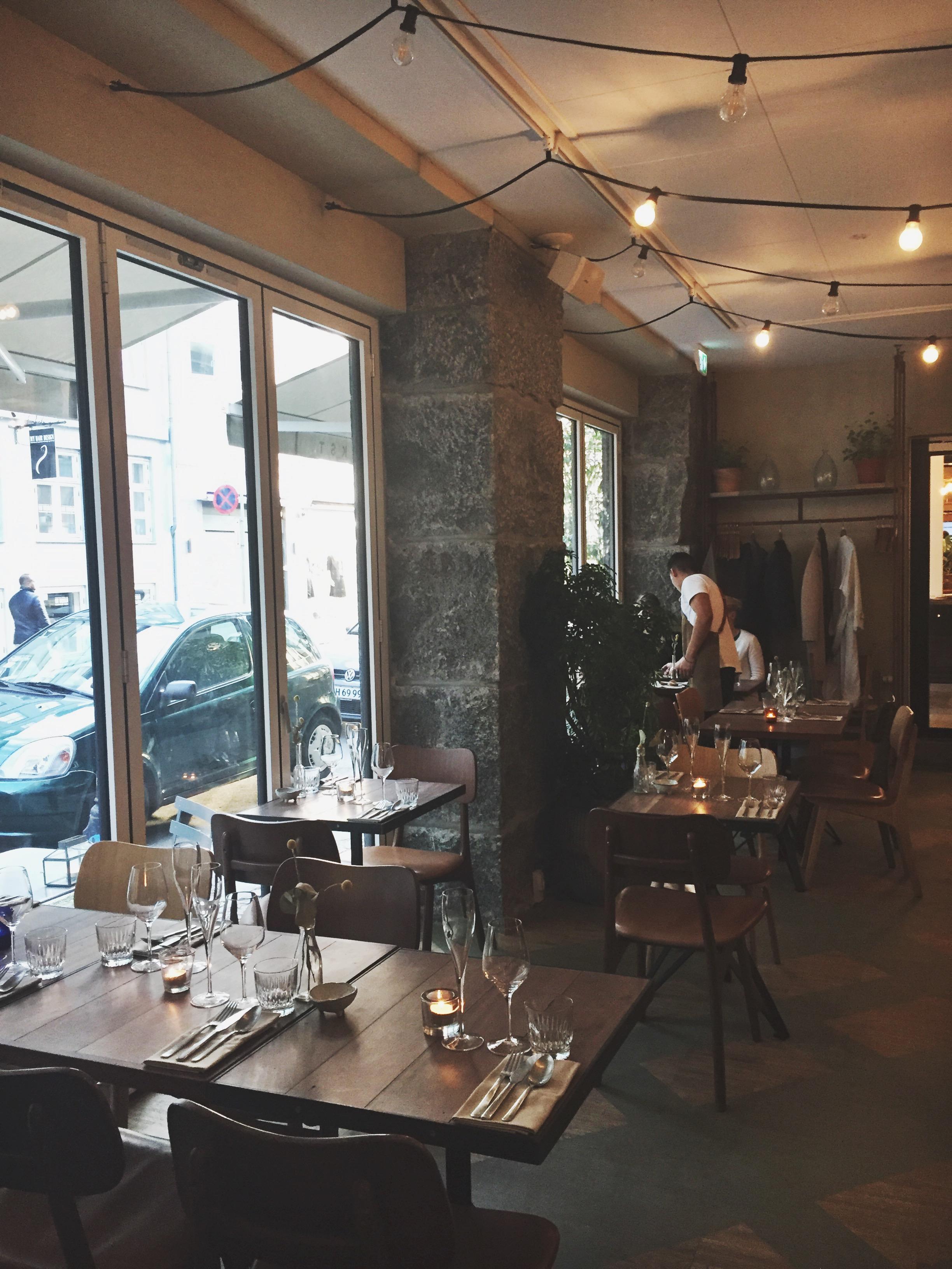 Beautiful restaurant Väkst