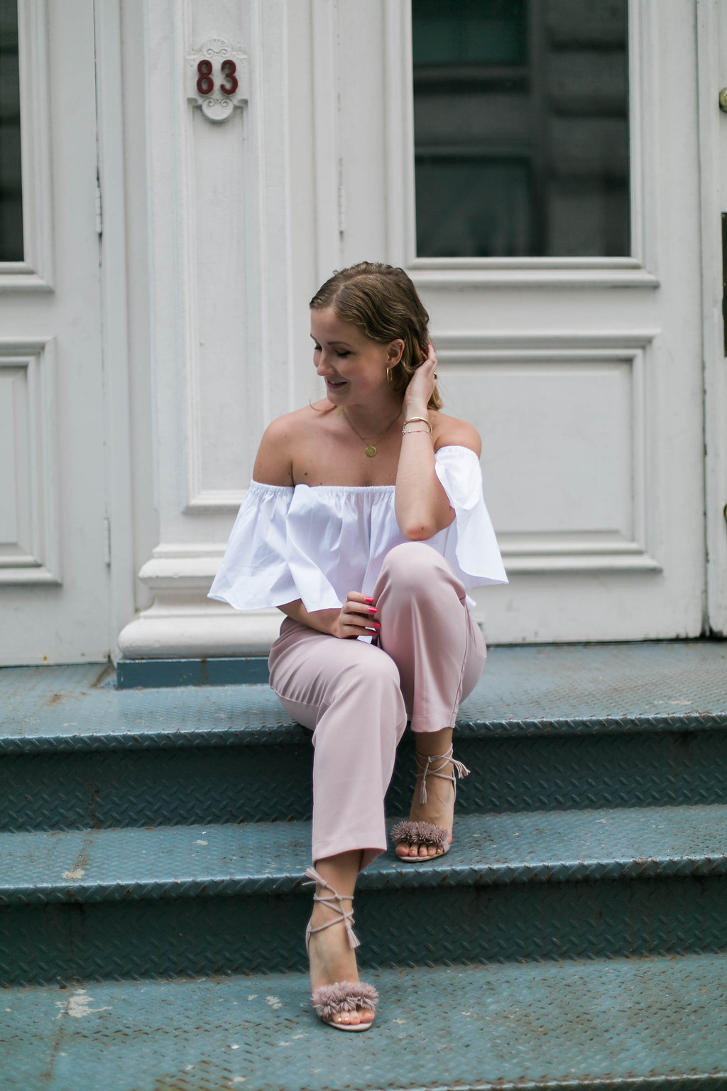 Soho fashion blogger outfit
