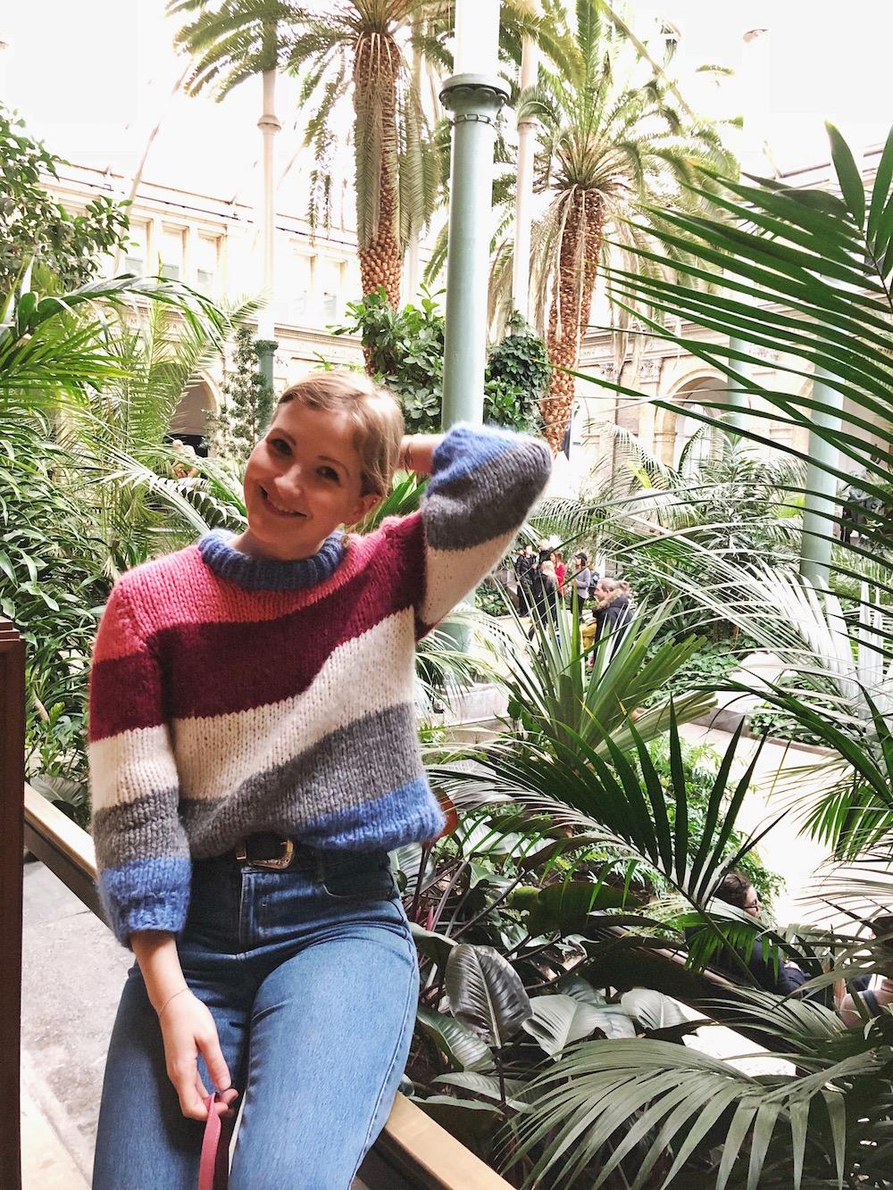 Ganni inspireret sweater