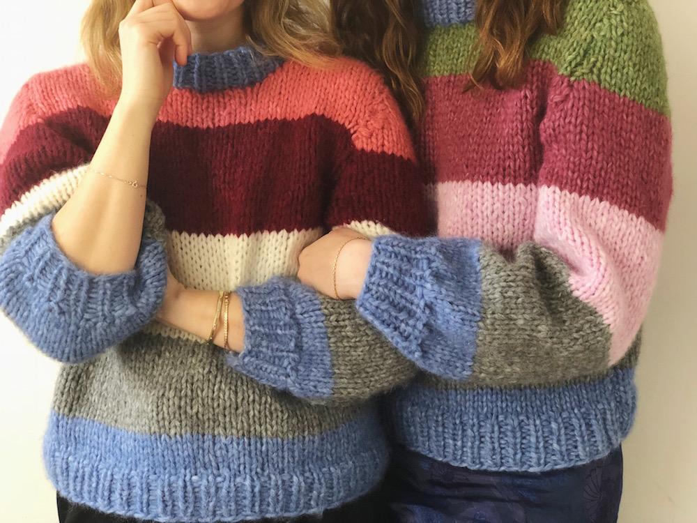 Ganni mønster til sweater strik selv