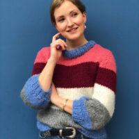 Mønster til ganni inspireret stribet sweater