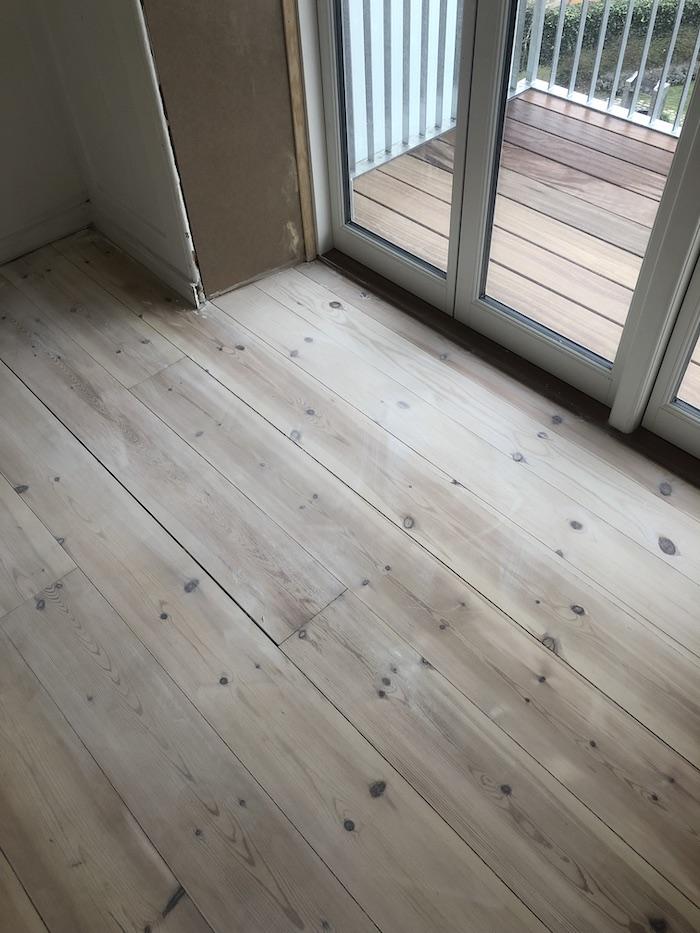 New grind wood floor
