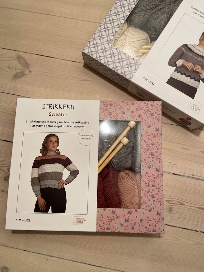 My own knit kit is sold in the largest supermarket in Denmark